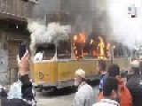Egypt - On The Anniversary Of Their So-called Revolution The Muslim Brotherhood Thugs Attack Citizens And Destroy Public Transport Vehicles
