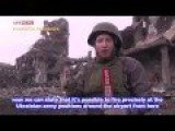 Eng Subs Militia Squads Setting Up Positions At The Ruins Of The Donetsk Airport Control Tower