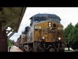 EXTREMELY CLOSE CSX Train Passing By Abandoned Amtrak Station