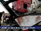 Egypt - Train Vs Minibus & Pick-up - 26 Killed
