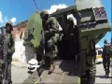 Elite Police BOPE And Brazilian Marines Arriving In Mare's Favela To Begin Occupation
