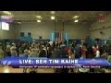 Eight Days Left: Tim Kaine Rallies Half-empty Student Gym, 'Let's Go Win!'