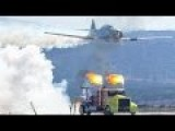 Epic Jet Truck Race At US Air Force Air Show: Awesome Super Fast Shockwave Jet Truck VS Planes
