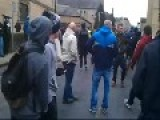 EDL And Locals Confront A Muslim Grooming Gang As They Leave Court