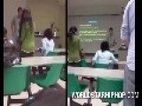 EPIC Crazy Black Woman Attacks Teachers And Students In Class For Raping Her Ancestors