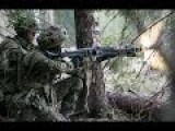 Estonian Army In Action During Heavy Intense Combat Training Live Fire Exercise Military Drills