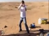 European Tourist Teaches Fat Arab How To Fight