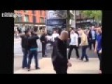 Englishman Defending Girl & Her Brother Against Muslim Attack In Manchester, Piccadilly Garden