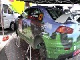 Estonia Rally Cars And Two Crashes