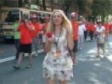 EURO-2012: Holland Fans And Ukrainian Reporter, Funny Video, Kharkiv, 06.2012