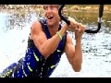 Extreme Barefoot Waterskiing