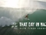 Experimental Drone Footage Of Surfing . Tube Riding In Nazaré