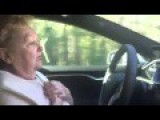 Elderly Woman Completely Freaks Out While Riding In Self-Driving Car