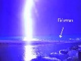 EXTREME WEATHER: Too Close For Comfort - Lightning Strike Narrowly Misses Fisherman In Barcelona, Spain! VIDEO