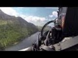 Flying An RAF Typhoon Through The Mach Loop At Low Level