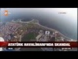 Flying Over Aiport In Turkey Istanbul - Drone View