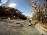 Fast Skateboarding Downhill Fail