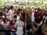 Female Bama Fan Goes WWE On Male Sooner Fan