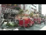 Fire Truck Foam Malfunction Leaves Mess In Tokyo Behind