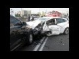 Ford Focus Vs Toyota Camry In Head On Collision