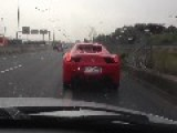 Ferrari 458 Spider Overtaking FAIL