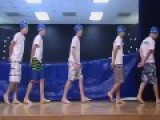 Fifth Grade Boys Steal Talent Show With Synchronized Swim Routine Skit