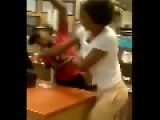 FAST FOOD FIGHT = Ratchet Girl Attacks WENDY's Employee =