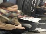 Female Passenger Calls Man A 'voleur' Thi 2b30 Ef For Not Paying His Fare To Ride On Paris Metro So He