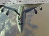 French C-135 Refueling And AWACS And Belgian F-16 Over Iraq