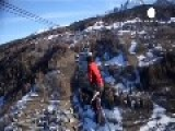 French Dare Devil Performs 1,200ft Walk Over The Alps
