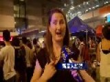 Foreign Woman Happy To See Democracy People Occupy Streets In Hong Kong