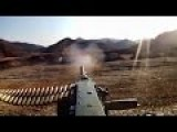 Firing The .50 Caliber Heavy Machine Gun