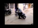 Funniest Bike Stunt By Indian College Student