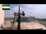 Free Syrian Army In Heavy Clashes With ISIS In Kobane ISIS Vehicle Seen Beeing Engaged