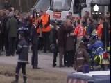 France: Relatives Of Germanwings Victims Visit Crash Scene