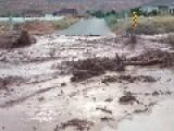 Flash Flood Washes Across Utah Road