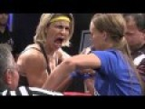Female Arm Wrestling Tactics - The Bad Breath Attack