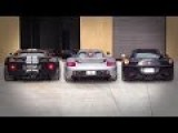 Ford GT Vs Carrera GT Vs Ferrari 458 Italia Exhaust Sound
