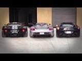 Ford GT Vs Carrera GT Vs Ferrari 458 Italia Exhaust Sound