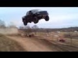 Ford Raptor Jumped 90 Feet And Totaled