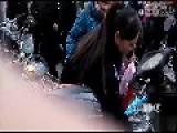 Female Inspector Attacks Street Vendor