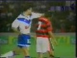 Fight Between Two Players During Football Match