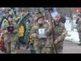 Funeral For Chief Petty Officer Of The 13th Separate Airmobile Vitali Mazur From Zhitomir Killed In Attack On Donetsk Airport