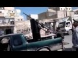 FSA Shooting At Planes In The Middle Of A Civilian Crowded Street