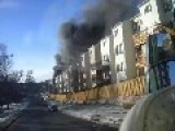 Fairfax Co. Two Alarm Townhouse Fire Helmet Cam