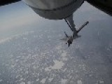 F-22 Raptor Stealth 168th Air Refueling Wing Performing Air Refueling
