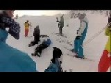 Funny Skiing Crash!