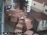 FedEx Guy Kicks Around Boxes
