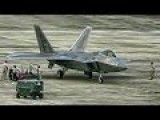F-22 Raptors Takeoff & Land - Cope Taufan 2014