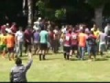 Fighting In Brazilian Amateur Football Game